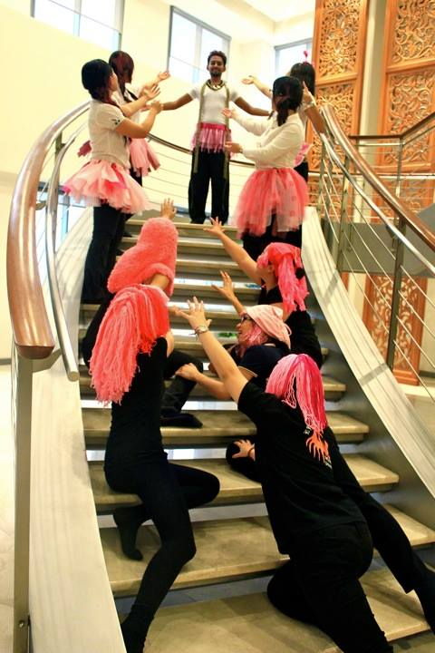 EY's Tax team gets creative for the pink tututs and wigs challenge