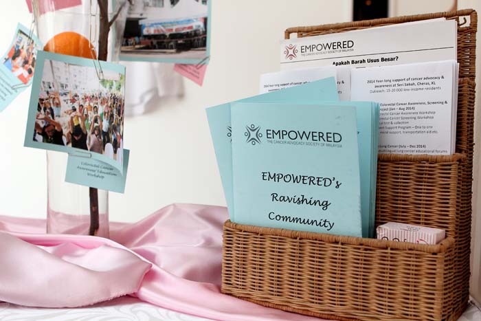 Materials to explain EMPOWERED's mission to save lives, prevent cancer & eliminate suffering among the poor – EMPOWERED's projects with the low-income communities of Malaysia