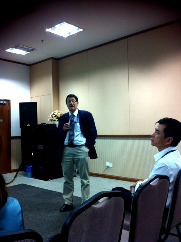 Dr. Colin Ng during his session