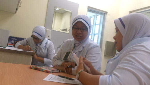 Training with KKC nurses