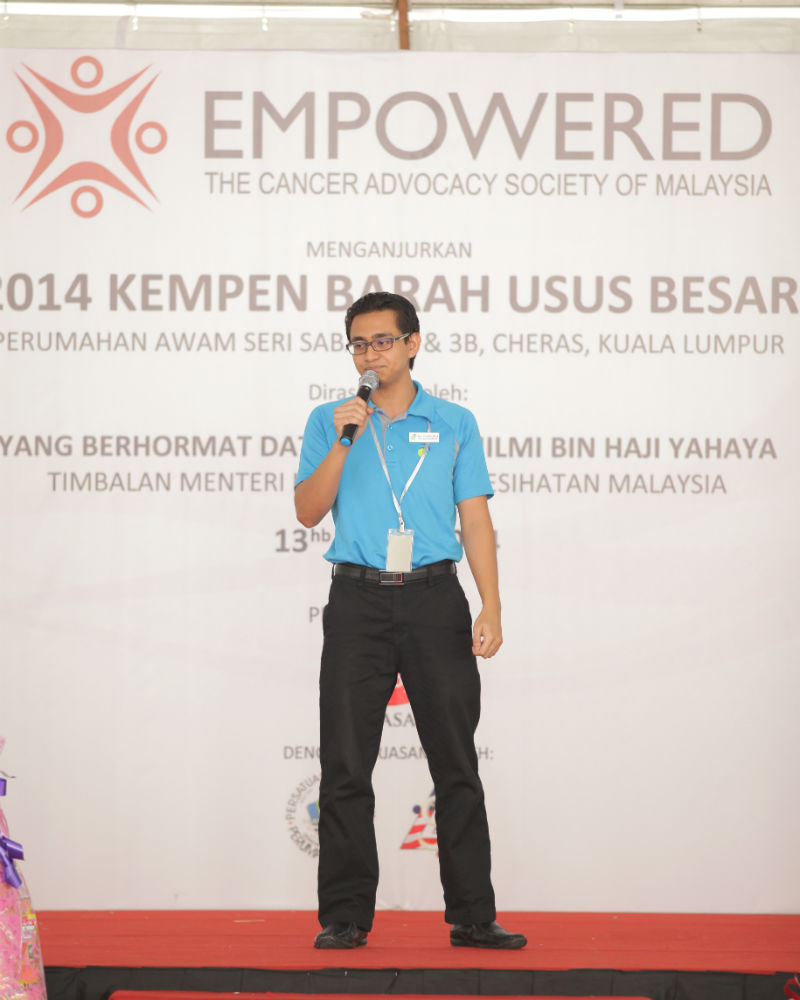 Lifestyle session guest speaker, Mr. Mohd. Zoolfaiz sharing the importance of physical movements