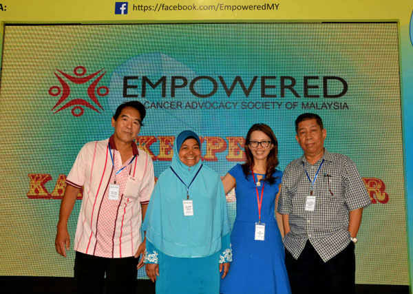 Dr. Christina Ng, President & Founder of EMPOWERED and EMPOWERED's colorectal cancer survivors-beneficiaries of 2015