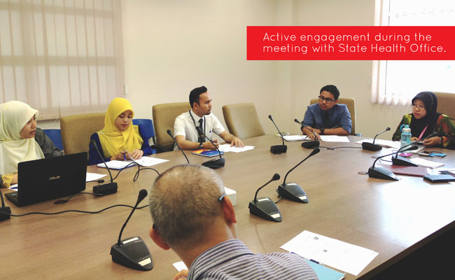 1st official meeting with state health office