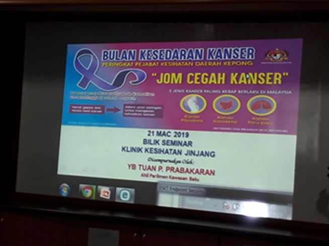 Opening Ceremony at Seminar Room in Klinik Kesihatan Jinjang